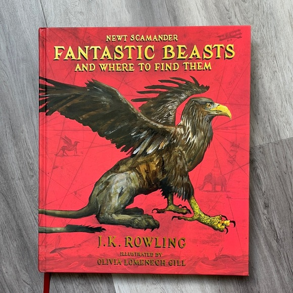 Illustrated Fantastic Beasts Book by J.K. Rowling